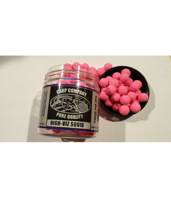 C.C. POP-UPS HIGH VIZ SQUID 12mm (BRIGHT PINK)