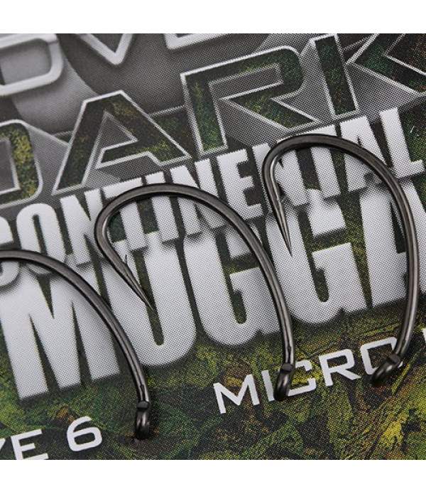 COVERT DARK CONTINENTAL-MUGGA HOOKS BARBED SIZE 4 (5)