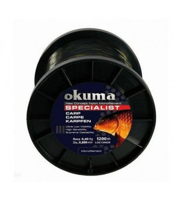 Okuma Carp 1200m 10,00lb 4,56kg 0,26mm ...