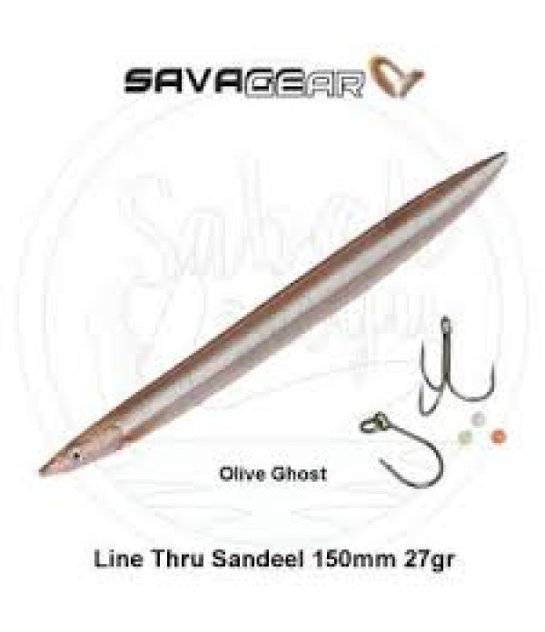 B-SG Line Thru Sandeel 150mm 27g 03-Olive Ghost