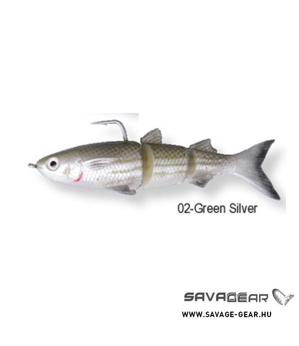 SG 3D TPE Mullet130 29g SS 02-Green Silver