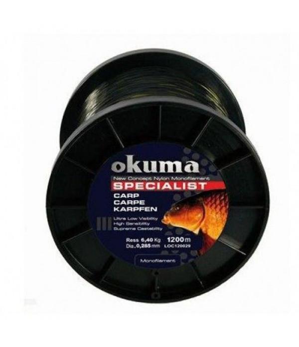 Okuma Carp 1200m 17,00lb 7,73kg  0,34mm ...